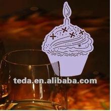 Cake Design Wedding Favor Place Cards On Wine Glass