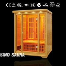 3 person 2012 new design infrared sauna with carbon heater & ceramic heater