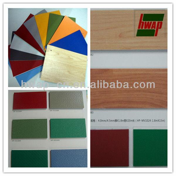 De haute qualité à l'intérieur cour sports basket plancher de vinyle pvc