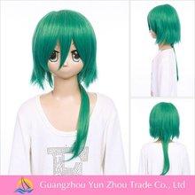 Starry sky hoshitukikotarou heat resistant synthetic dark blue short cosplay wig ponytail