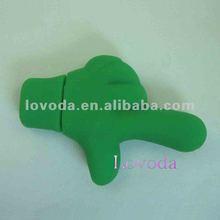 OEM silicone USB flash memory / palm shaped PVC USB stick/ custom 3D usb stick LFN-207