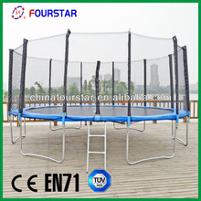 CE approved biggest professional bungee Trampoline with outer net (6FT-16FT)SX-FT(E)16