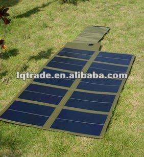 60W folding thin film flexible solar laptop charger bag