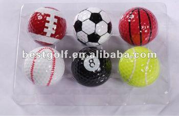 golf ball, sports ball, art golf ball