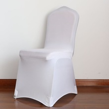 White spandex chair cover for wedding