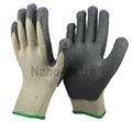 nmsafety gris recubierto de nitrilo de algodón y de seguridad industrial guantes