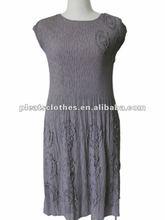 2012 new design sleeveless hot Office Lady's fashion pleats dress