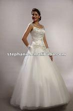 (7337)Dreamlike Bohemian A-line Lace Cap-sleeve Embroidery Cinderella Wedding Gown Dresses