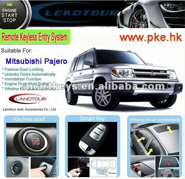 carro sistema de alarme pode bus alarme do carro de controle remoto de partida para a mitsubishi pajero botão inteligente