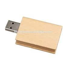 16gb bamboo book usb flash drive