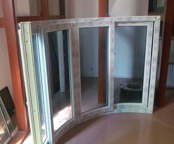 PVC sliding curved glass window
