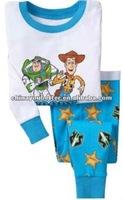 Baby pajamas children sleeping wear, long sleeve cotton baby underwear