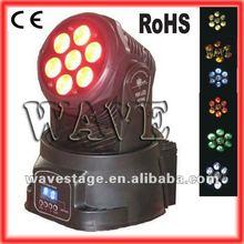 Hot 7 pcs 4 in 1 10w wash led moving headwholesale dj equipment guangzhou stage lighting ( WLEDM-17)