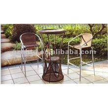 PE rattan outdoor modern bar furniture