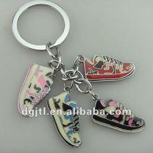 Fashion metal mini running shoe keychain