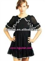 new design beautiful lady's smart casual dress 2012