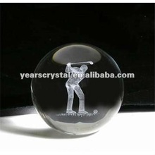 pure crystal ball with laser golf for home decorations(R-0665