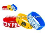 Silicone Rubber Sport Wristband Cuff Bracelet Wrist Bands