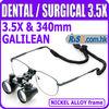3.5x Dentist Galilean Frame Magnifer 340mm Surgical Medical Dental Loupes