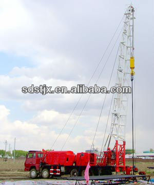 Anchor rope free oil well workover rig