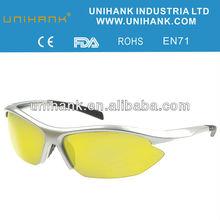 2012 new arrival yellow lens with customized frame,glasses polar drive anti-dazzle,anti-vetigo sunglasses