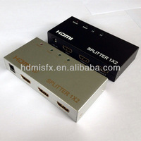 mini hdmi splitter 1 in 2 out support 3D,black and silver