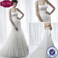 Goingwedding imperio de la cintura de la correa de espagueti del cordón de la sirena de la boda vestidos con desmontable tren Kleinfeld AJ010