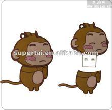 2014 New arrival shaped animal monkey usb flash drive.