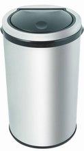 stainless steel waste touch bin