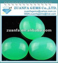 loose cabochon jade green glass gems