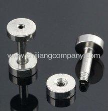 Screw On 316L Stainless Steel Double Flare Flesh Tunnel Ear Tunnel Ear Expander Body Piercing Jewelry WY-ft-058