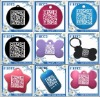 shamrock design metal pet ID tags qr code pet tag