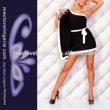 Top Sale New York One Shoulder Clubwear One Piece Black Dress