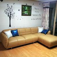classic living room furniture Italian leather sofa 2619