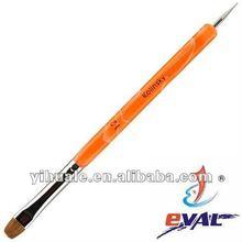 Arancione acrilico manico francese& art design nail art pennello