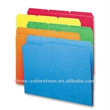 Manila File Folder, Vivid Colors, A4, Top-tab, Assorted Position