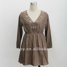 ladies long body style latest design blouses 2012