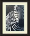 hecho a mano decorativos zebra animal pintura al óleo de la foto