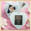 Heart Shape Photo Glass Crystal Drink Coasters For Wedding Favour