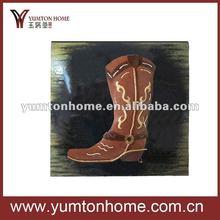Fashionable cowboy boots wall decoration