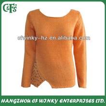 Ladies 60% acrylic 40% wool new design beautiful sweater