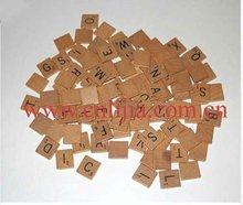 top quality wooden scrabble tiles / wood scrabble tiles