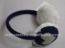Fashion jacquard knitted earmuffs