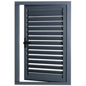 Exterior de aluminio tipo persianas de la puerta puerta for Puerta tipo louver