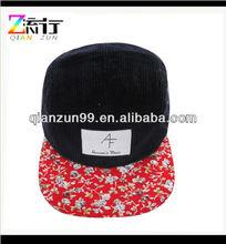 new style corduroy 5 penal hat / cap