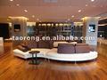 Moderno hotel de lazer moderno s forma tecido açoinoxidável perna sofa so-281