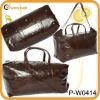 men's weekend nappa genuine leather travel bag
