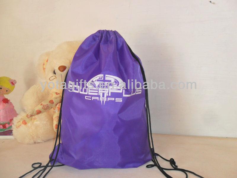 Teens cute backpack, polyester drawstring bag