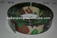 PVC coated webbing for camo dog collar&leash,PVC dog collar,camo dog collar