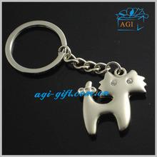 kitty zinc alloy metal key ring key holder keychain